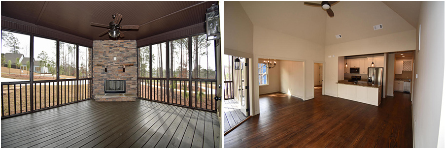 spacious indoor living area screened porch fireplace 168 camp circle the village lake martin al