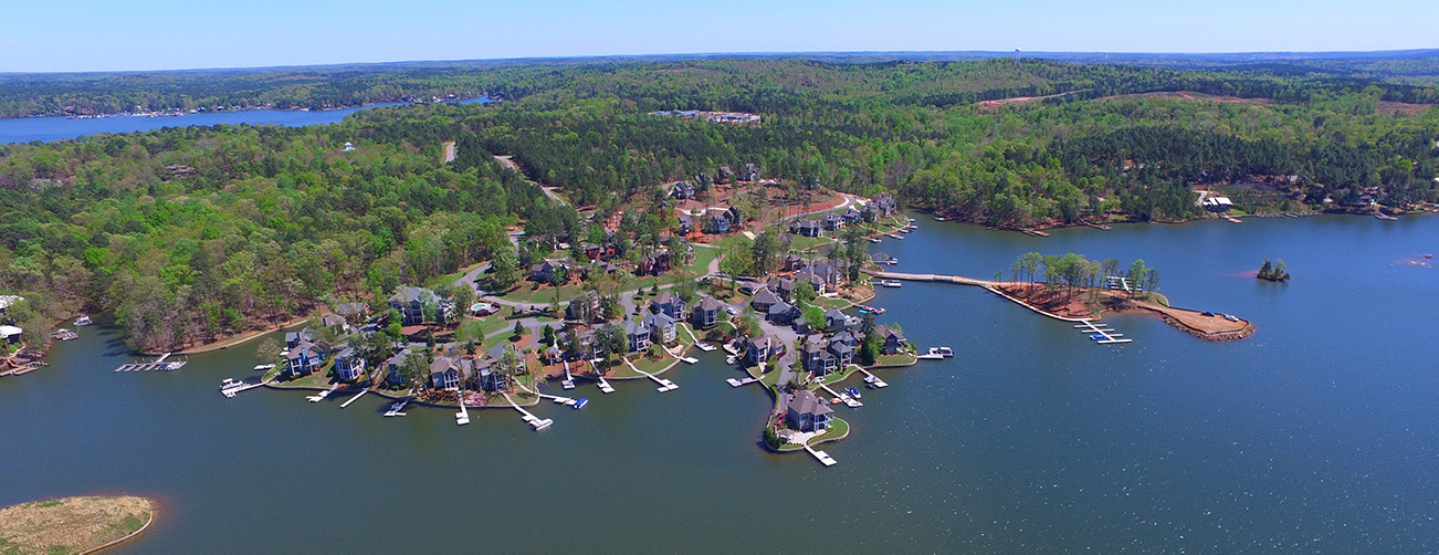 the village at lake martin aerial